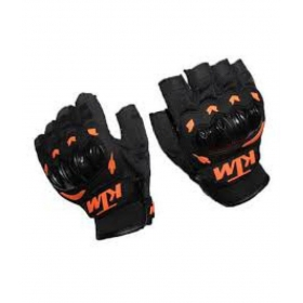 Black Half Finger Racing Gloves