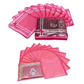 Special Combo 12 Pcs Of Single Saree Cover And 12 Pcs Of Bow Saree Cover