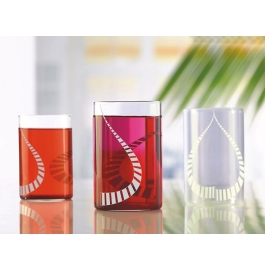 Borosil Vision Glass White Kurl Large - 350 Ml
