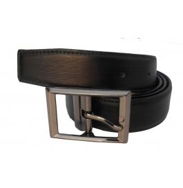 Mms Men Formal Black Artificial Leather Reversible Belt