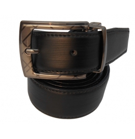 Mms Men Formal Black Artificial Leather Reversible Belt
