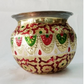 Royals Puja Accessory Steel Kalash Lota 12 Cm