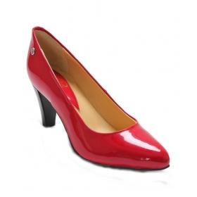 Red Stilleto Heeled Slip-on