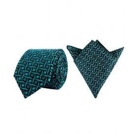 La Rainbow Green Floral Satin Necktie