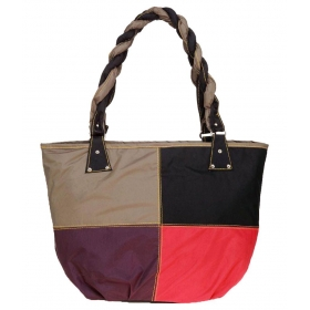 Multi Fabric Shoulder Bag