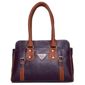 Purple Faux Leather Shoulder Bag
