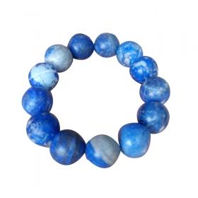 Excel Beads Rhodium Plating Crystal Studded Blue Coloured Bracelet
