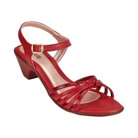 Lavie Maroon Block Heels