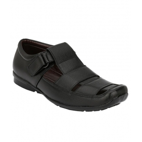 Leeport Black Sandals