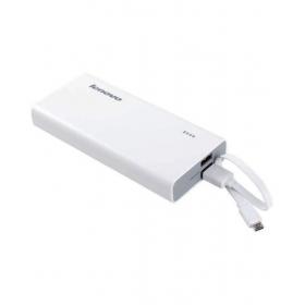 Lenovo Pa10400 10400 Mah Dual Usb Power Bank - White