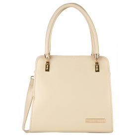 Beige P.u. Satchel Bag