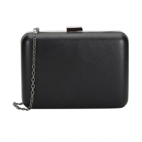 Black Faux Leather Clutch