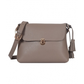 Lino Perros Brown Faux Leather Sling Bag
