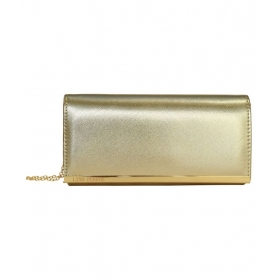 Gold Faux Leather Handheld