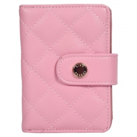 Pink Faux Leather Envelope