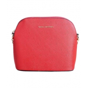 Lino Perros Red Faux Leather Sling Bag