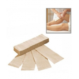 Disposable Hair Removal Body Waxing / Wax Strips - Brown