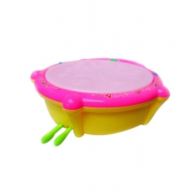 Little Grin Peng Jia Multicolored Flash Drum Toy For Kids
