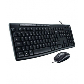 Logitech Mk200 Black Usb Wired Keyboard Mouse Combo