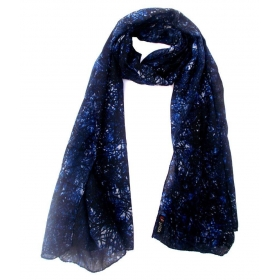 Blue Synthetic Scarf For Women