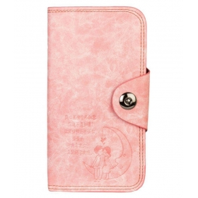 Pink Faux Leather Handheld