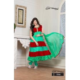 Brasso / Soft Net Semi Stitched Salwar Kameez