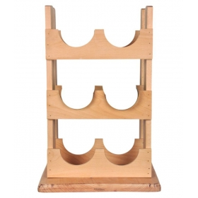 Wooden Table Top Wine Holder