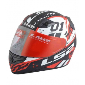 Ls2 Tokyo Black Red - Full Face Helmet Red L