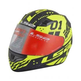 Ls2 Tokyo Black Yellow - Full Face Helmet Yellow L