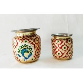 Handmade Puja Essential Lota Pot Combo (10 & 8 Cm)