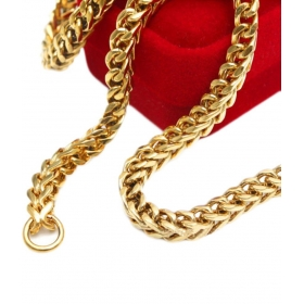 22ct Pure Gold And Rodium Coated Chain