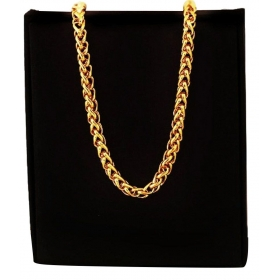 Stones Gold Plated Chain