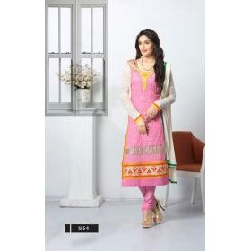 Elegant Chiffon Semi Stitched Salwar Kameez