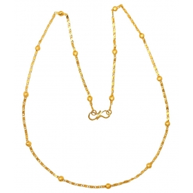 Gold Plated Saturn Thick Women's Chain