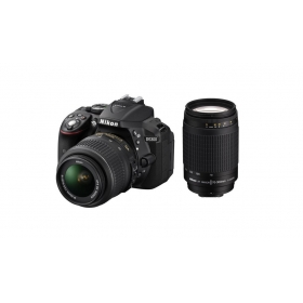 Nikon D5300 With Af-p Dx Nikkor 18mm-55mm F/3.5-5.6g Vr Lens + Af-p Dx Nikkor 70mm-300mm F/4.5-6.3g Ed Vr Lens , Memory Card And Bag