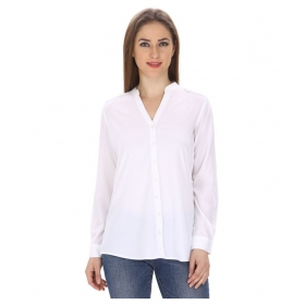 Chic Button Down Polyester Shirt
