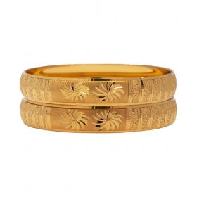 Traditional Designer Original Look Golden Bangles For Women