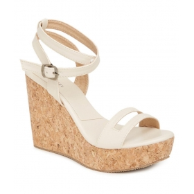 White Wedges Heels