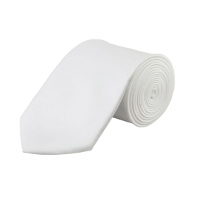 Maruti Tie White Formal Necktie