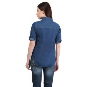 Denim Half Sleeves Shirt