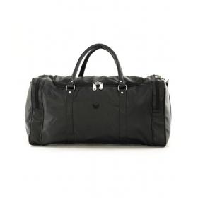 Mboss Black Leather Duffle Bag
