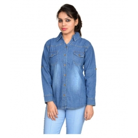 Full Sleeves Denim Casual Wear Shirt