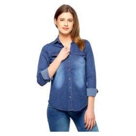 Jeans Denim Full Sleeves Shirt