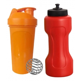 Multicolor Shaker With Dumble Sipper