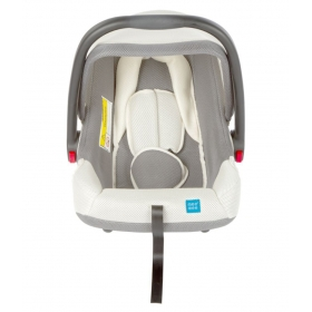 Baby Car Seat Cum Carry Cot With Thick Cushioned Seat (grey)