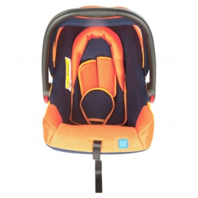 Baby Car Seat Cum Carry Cot With Thick Cushioned Seat (orange)