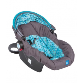 Baby Car Seat Cum Carry Cot With Thick Cushioned Seat & Head Support