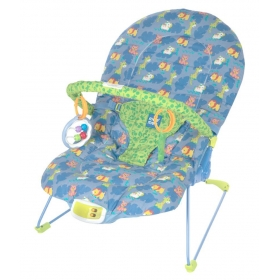 Vibrating & Soothing Baby Bouncer (blue)