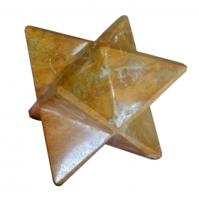 Camel Jasper Merkaba Star Large Crystal Sacred Geometry Reiki Point 8 Healing