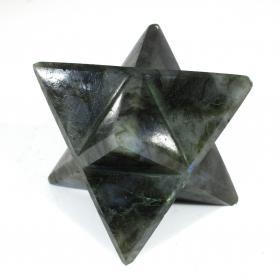 Labradorite Merkaba Star Large Crystal Sacred Geometry Quartz Reiki Point 8 Healing